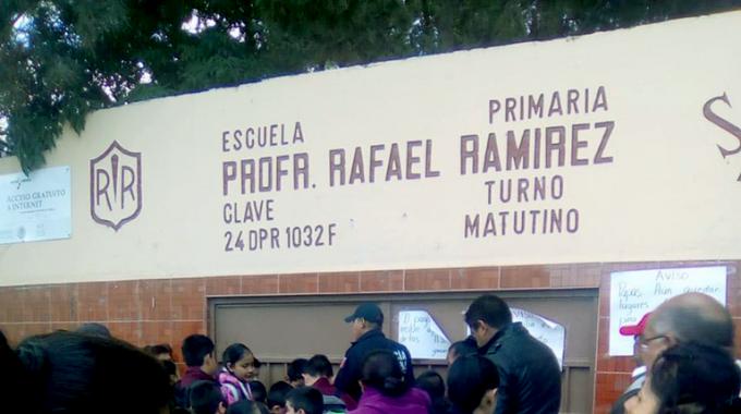 "PIDEN CÁMARAS DE VIGILANCIA EN ESCUELA CON CINCO ASALTOS ""RAFAEL RAMÍREZ"""